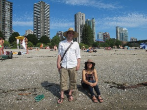 Minnie-chan & Dmitri at Stanley Park Beach