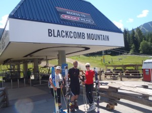 Summer skiing on Blackcomb Mountain
