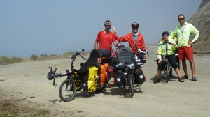 With Fred & Ophelia (from France) on their recumbent bikes