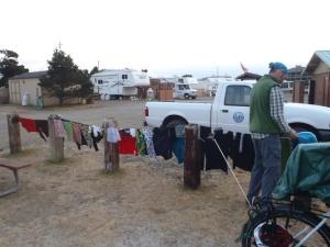 Happy washing drying after we found a washing machine