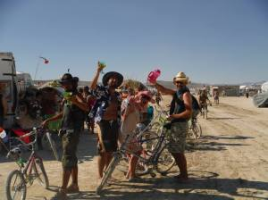 Playing in the Playa with our new mate Richie & our new Pomme mates Graeme & Paul