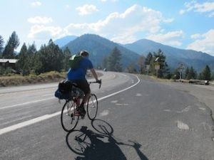 Brother riding on the Mount Rose Hwy