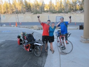 Completely knackered, quite sweaty and slightly cold but absolutely victorious at the top of Mount Rose Pass