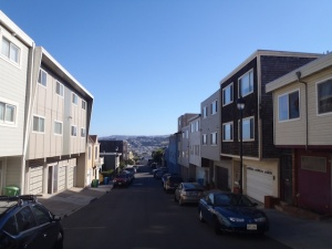 The steepest hill in San Fran...it's steeper than it looks