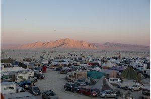 The beauty of the desert with 65,000 people camping in it