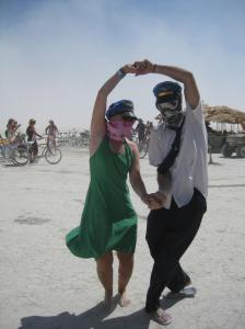 Bremma dancing up a dust storm in Black Rock City