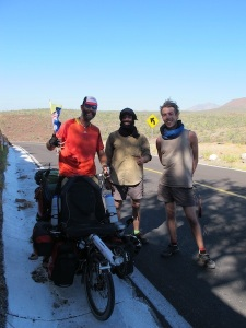 We met these French guys riding their recumbent bikes North through killer head winds. We salute you guys!