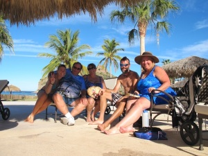 In  Loreto with Mick, Yvonne & Debbie