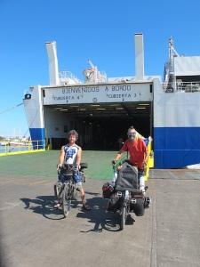 Arriving on the mainland in Mazatlan