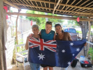 We stayed with Karen and her mum. Wonderful people!