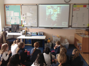 Skyping with the year 5's at BST