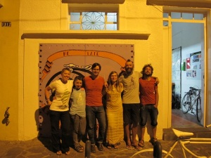 With Salvador from www.roadoutfitters.com and the casa crew sporting our new tees! Thanks Salvador!