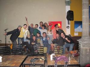 The gang at Kevin's gig
