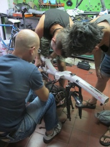 With Jorge & Kevin in the Casa workshop