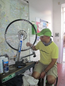 Bernado! He spent hours making sure our wheels were completely perfect. Gracias amigo!