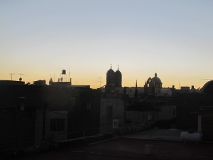 Sunset from the casa rooftop