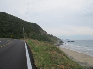 The coast road to Acapulco. Despite the many warnings, we had no-run ins with the cartel