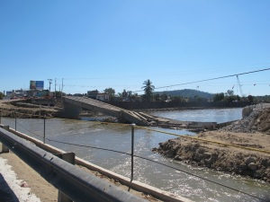 On the road to Acapulco, we saw a lot of devastation from the storms 5 months ago