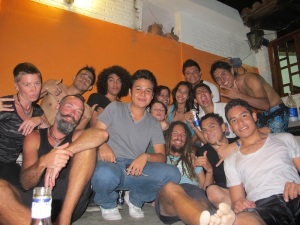 We arrived to stay with Eduardo our host in Scapulco and he had 3 parties going on at his house. Welcome to Acapulco!