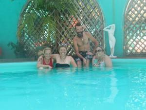 In the Hacienda pool with Stasya & KiKi