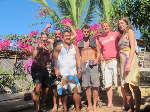 Our host Pepe in Puerto Escondido and the crew at Casa Kei