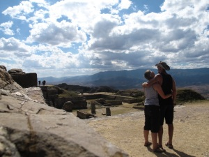At the Monte de Alban ruins in Oaxaca