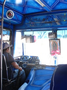 A religious bus trip to the Tule Tree
