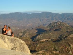 The views of Oaxaca mountains from  Agua de Hierve