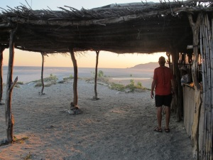 The palapa we camped in