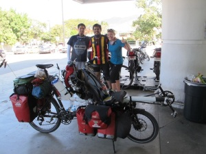 Riding through Tuxtla, we met Jorge and Ramiro on the road. Total Legends!