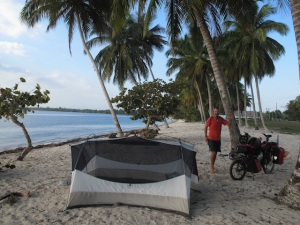 Camping at Playa Larga