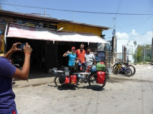 With 'Franklin the bike fixing legend' in Chetumal