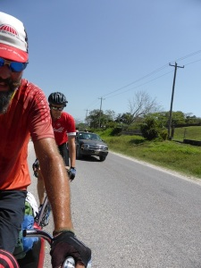 Before crossing the border, we met 'Jimmy the American cyclist' living in Belize. He gave us some valuable tips