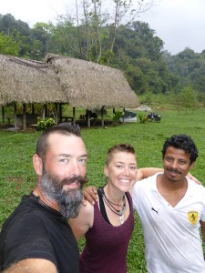 Alfredo invited us to camp at his property in Guatemala. He took us caving and climbed the 'legend ladder'.