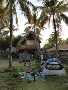Our campsite in El Tunco