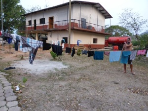Our washing before  the wind