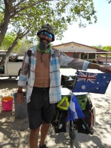 The new Aussie flag from a bag