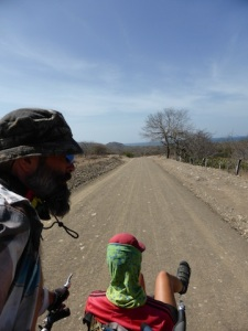 A hot and tough dirt road for 40km.
