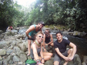 A day off in El Tanque by the river with our cool host Esteban and Aussie Aidan
