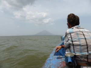 The ferry across Lake Nicaragua to the Island of Ometepe