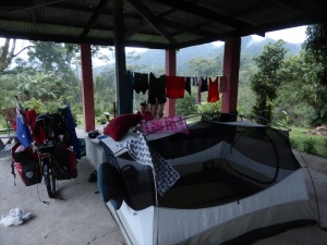 camping at 'the finca', again, with washing of course