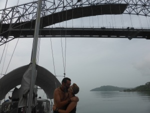 Its apparently tradition to kiss under this bridge as you approach the first lock