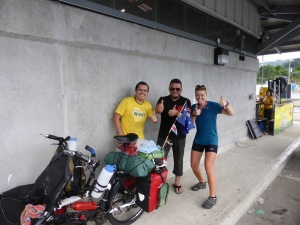 Stopping for an ice cream before the border to Panama