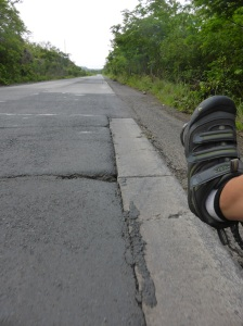 Their is much roadworks on the Pan American highway in Panama. Concrete roads were never a good plan.