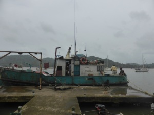 The dock in Portobelo