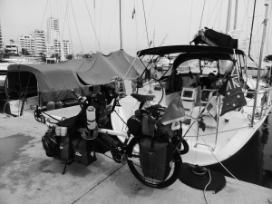 Rebuilt on the dock in Cartagena and ready to ride again