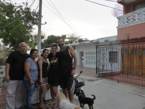With dad 'Jose' and family