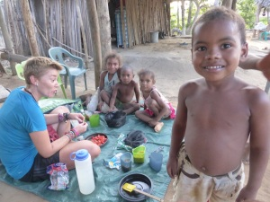 Camping on a small farm with 6 children