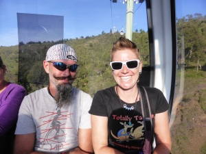 In the cable car enroute to Parque Arvi