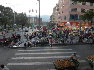General chaos in the streets of Medellin